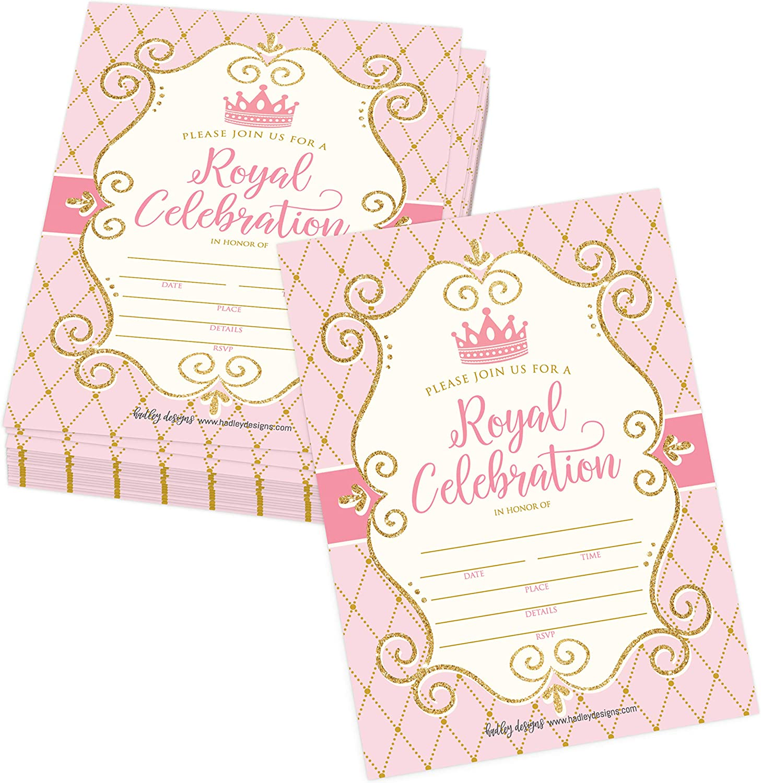Personalised Birthday Party Princess Party Invitations Sleepover Invites