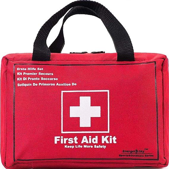 Botiquín de Primeros Auxilios de 130 Artículos Kit Supervivencia ...