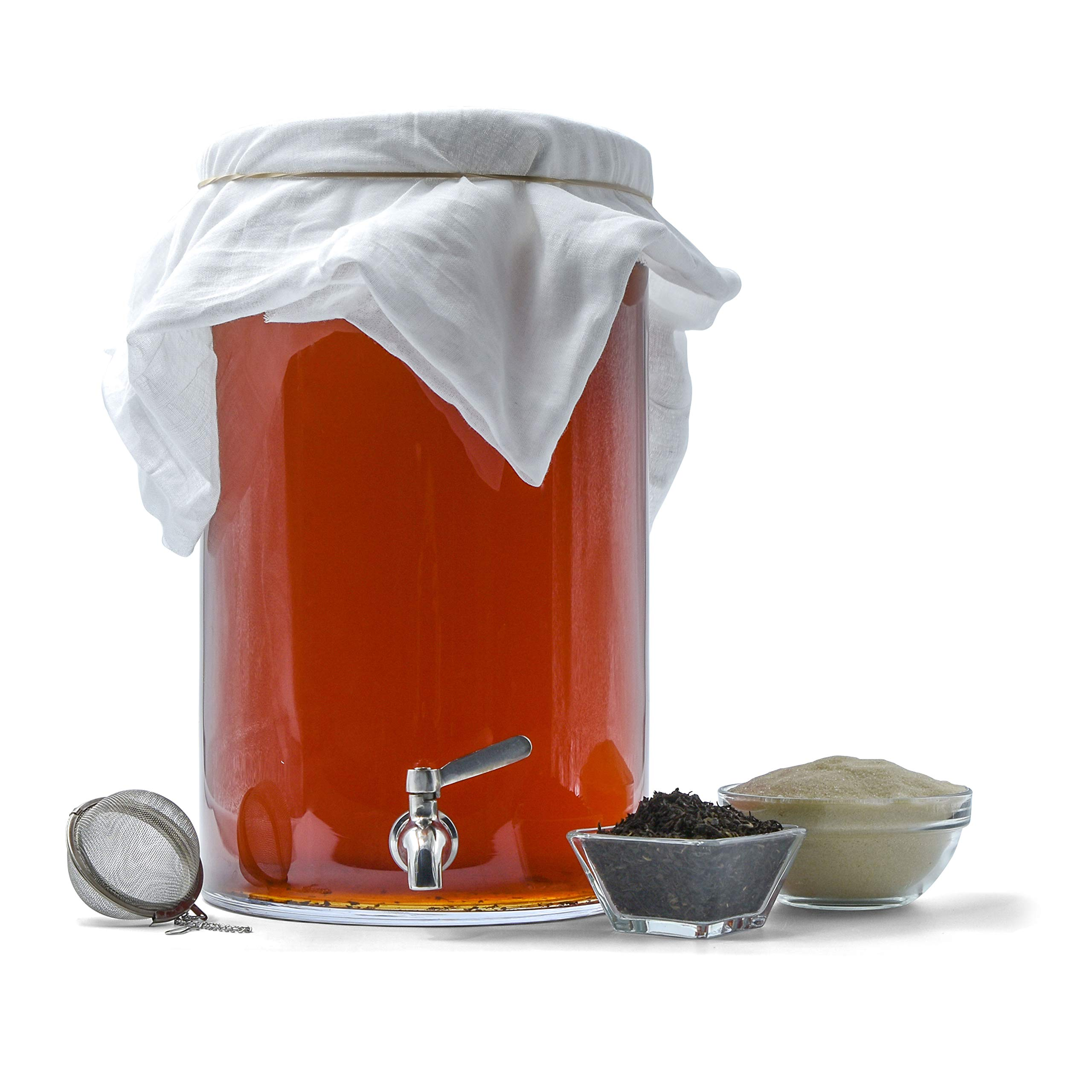 Northern Brewer - Kombucha Brewing Starter Kit With Scoby Included (3 Gallon Glass with Stainless Spigot) by Northern Brewer (Image #5)