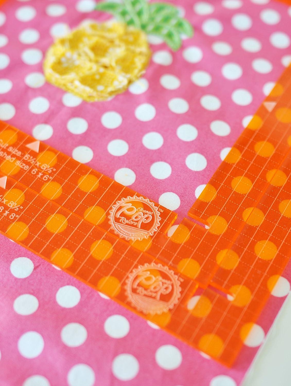 KimberBell Pop-Lineal-Set quadratisch Orange