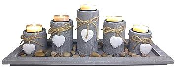 Attraktiv Khevga Teelichthalter Set Windlicht Tablett Tisch Dekoration Wohnzimmer Im  Landhausstil