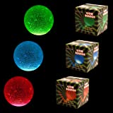 Fun Central (AZ969) 2.5 Inch Glow Bouncy Ball - Assorted - 3pcs