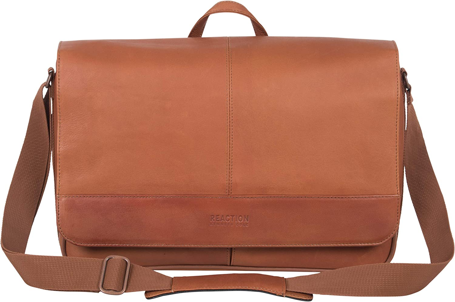 "Kenneth Cole Reaction 15.6"" Laptop Messenger Bag, Cognac"