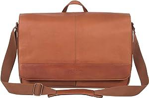 """Kenneth Cole Reaction 15.6"""" Laptop Messenger Bag, Cognac"""