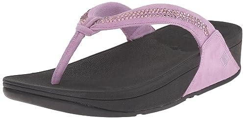 1ed494433bf Fit Flop Women s Crystal Swirl Flip Flops