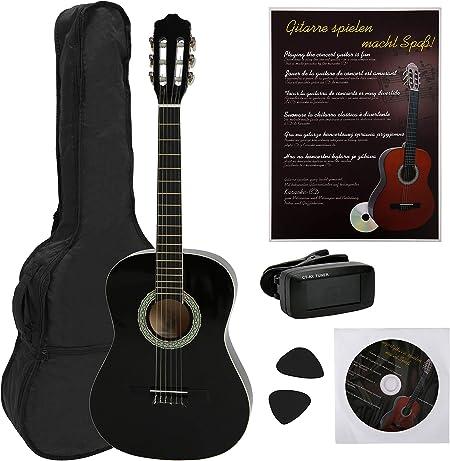 Navarra NV12PK - Guitarra Clásica para Aprender, Sintonizador con ...