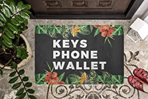 Shengqinfeng Welcome Mat Gift Keys Phone Wallet Funny Doormat New Home Porch Decor Sassy Doormat Apartment Decor Cute 15.7 x 23.6 Inch