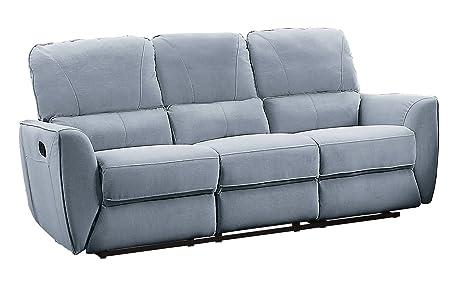 Amazon Com Homelegance Dowling 85 Fabric Upholstered Reclining
