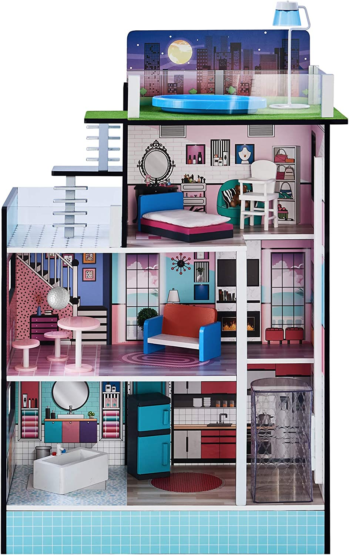 Teamson Kids TD-13111D Barcelona Dolls House Puppenhaus blau