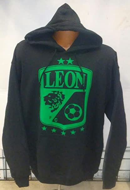 New! Club Leon Fc Black Jacket with Zipper (Small)