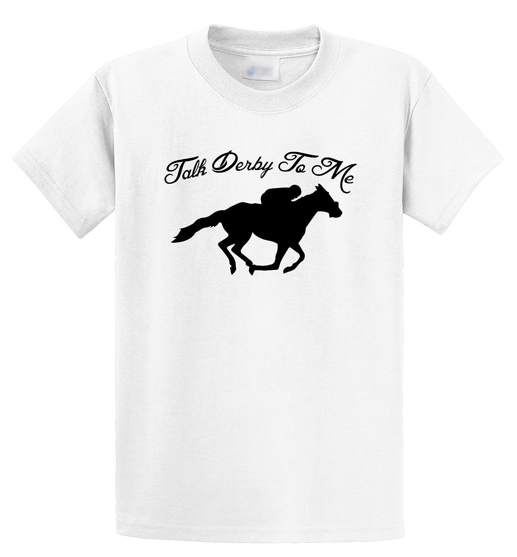 6afe0e523 Amazon.com: Comical Shirt Men's Talk Derby Me Funny Horse Race, Kentucky Derby  Shirt T-Shirt: Clothing