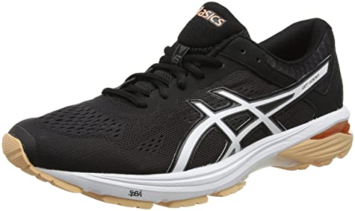Asics Women's Gt-1000 6 Training Shoes, (Black/Canteloupe/Carbon)