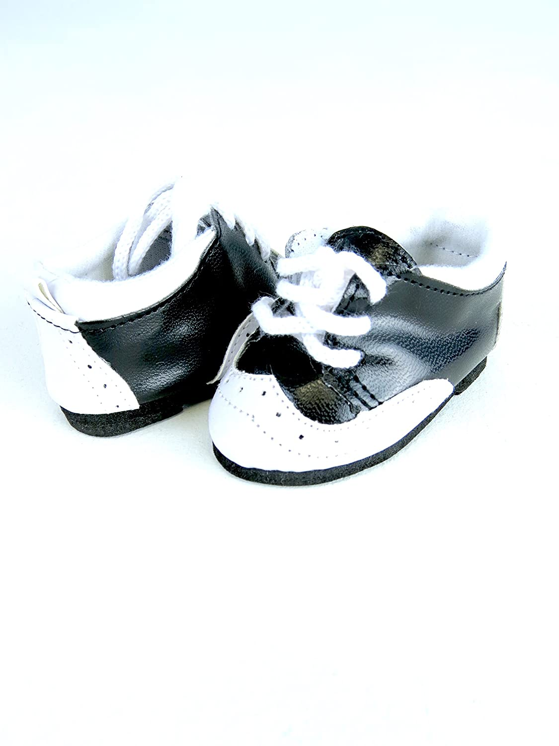 af565ca34b35b Black and White Saddle Oxford 18 Inch Doll Shoes | Fits 18