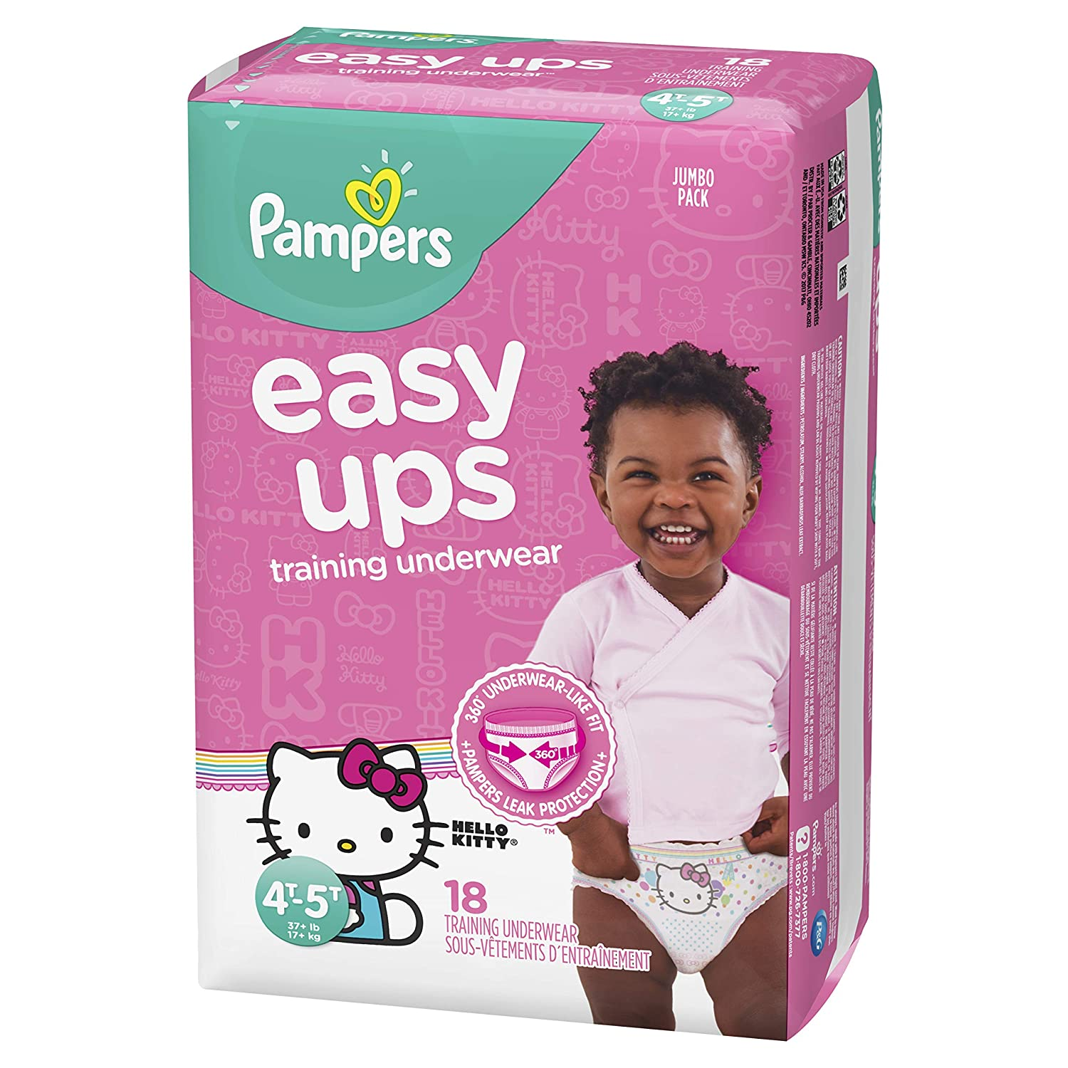 Pampers Easy Ups Pull On Disposable Training Diaper for Girls Size 6 (4T-5T), Super Pack, 56 Count Procter and Gamble