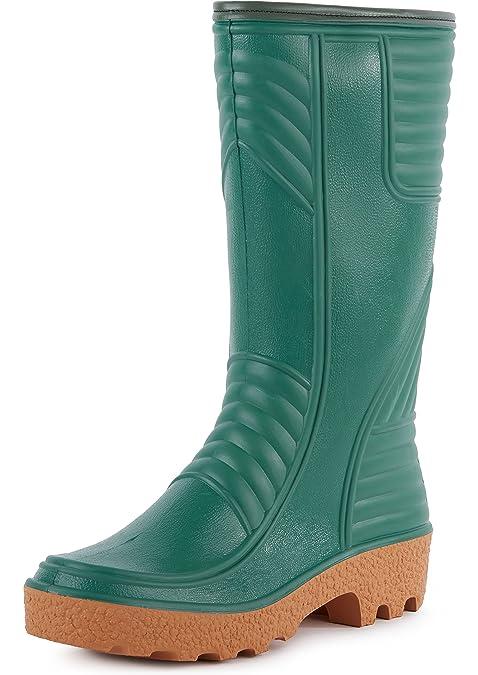 Ladeheid Botas de Agua Zapatos de Seguridad Hombre LABN70-2 (Verde, EU 40