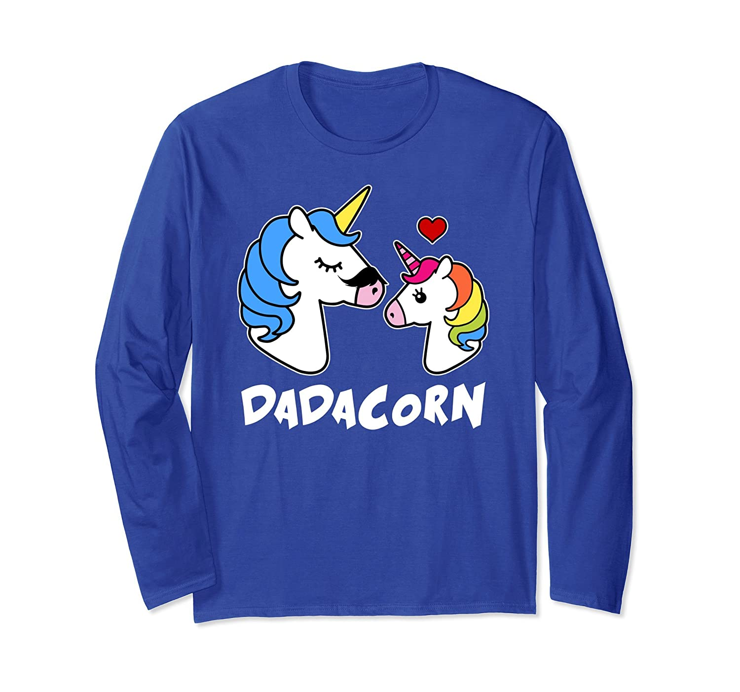 DaDacorn Long Sleeve Dad and Daughter Unicorn Father's Day- TPT