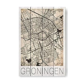 Amazon.de: artboxONE Holzbild 60x40 cm Reise \