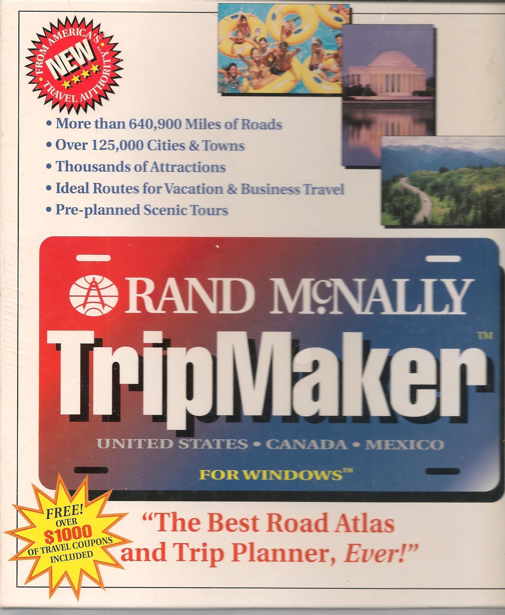 Rand Mcnally Tripmaker >> Rand Mcnally Tripmaker For Windows United States Canada Mexico