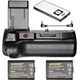 Neewer Infrared Remote Control Vertical Battery Grip with 2-Pack 1020 mAh 7.2V LP-E10 Replacement Li-ion Battery for Canon 1100D 1200D 1300D / Rebel T3 T5 T6 DSLR Cameras