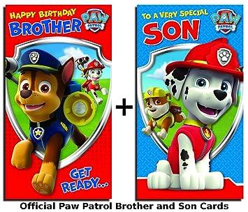 Paw Patrol - Tarjetas de felicitación de cumpleaños diseño ...