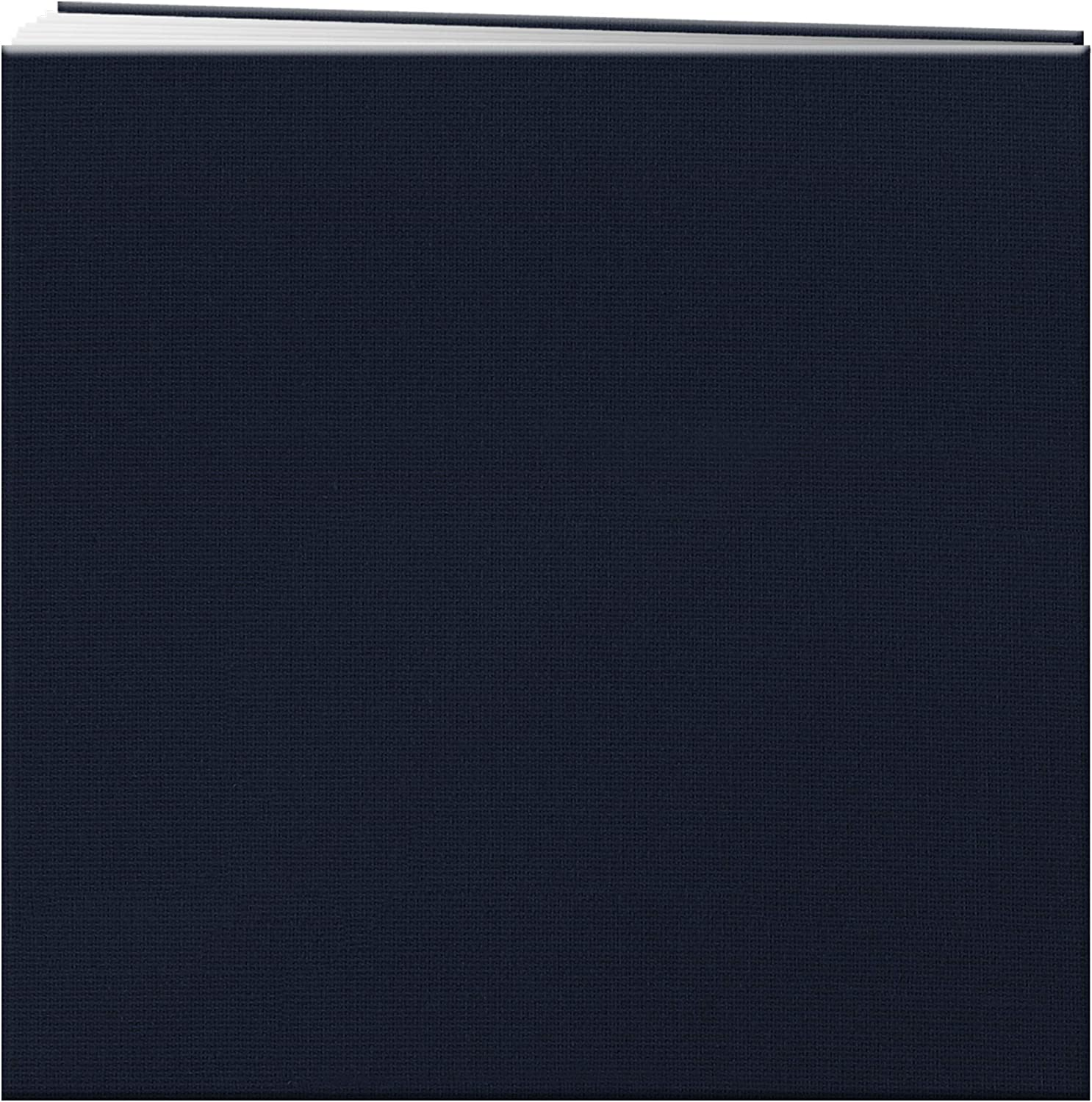 Pioneer 12-Inch by 12-Inch Book Cloth Cover Postbound Album with Window Regal Navy