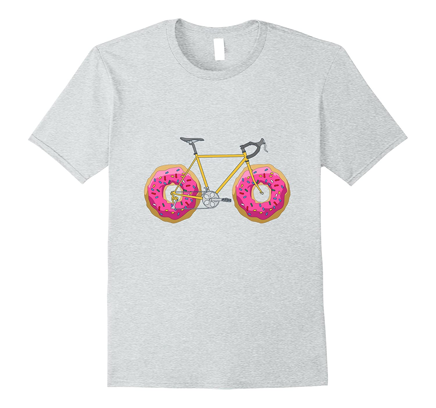 40ac28bc9 Donut Bicycle T-Shirt – Funny Bike Shirt for a Cyclist – Hntee.com