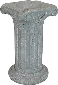 Sunnydaze Roman Pedestal Indoor/Outdoor Gazing Globe Stand - Column-Style Gazing Ball Pedestal for 10 to 12-Inch Garden Spheres - Travertine - 16 Inch