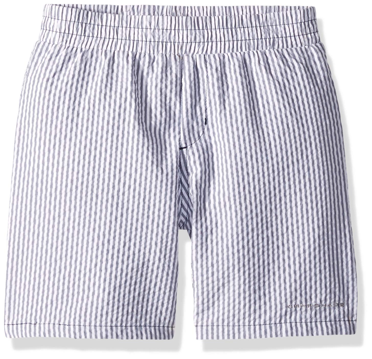 Columbia Youth Boys' PFG Super Backcast Short, Collegiate Navy Seersucker,Medium,Big Boys