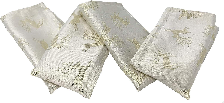 MNSRUU Christmas Gold Snowflake Cloth Napkins Dinner Table Napkins 50.5 x 50.5 CM for Home Weddings Parties Holiday Table Napkins Set of 4