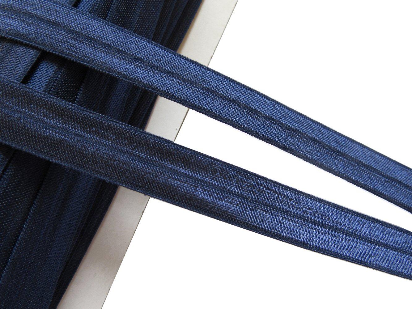 YYCRAFT 40 Yards Bulk Elastics,Solid and Prints Fold Over Elastics,Stretch Lace Elastic for DIY Headband Kit//Hair Ties Craft
