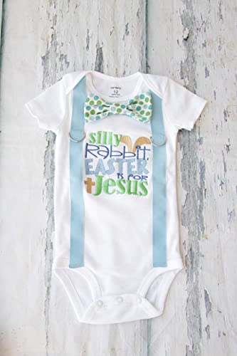Amazon Com Baby Boy First Easter Bodysuit Silly Rabbit Easter Is