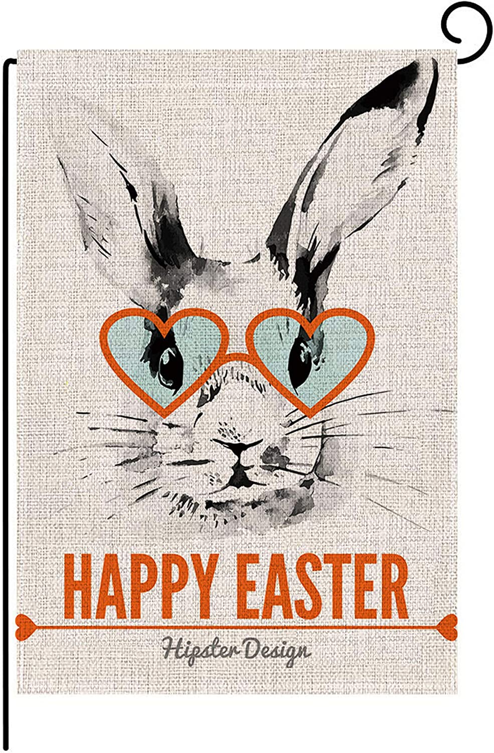 M MEINADILY Easter Garden Flag for Outside 12x18 inch,Happy Easter Decorative Flags Bunny for Spring Easter Decoration,Double Sided Spring Flags for Indoor Outdoor Easter Decor