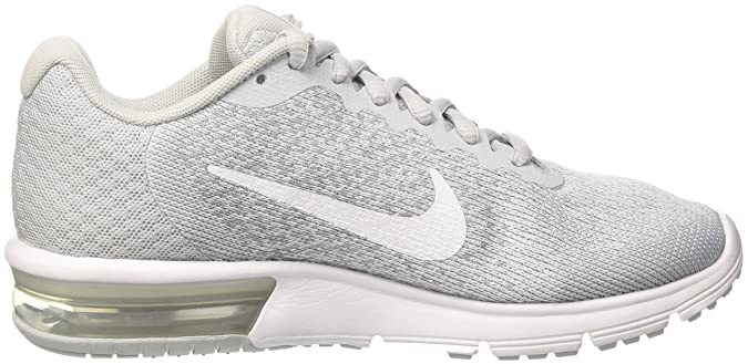 Amazon.com | Nike Womens Air Max Sequent 2 Low Top Lace Up Running Sneaker, Silver, Size 6.5 | Road Running