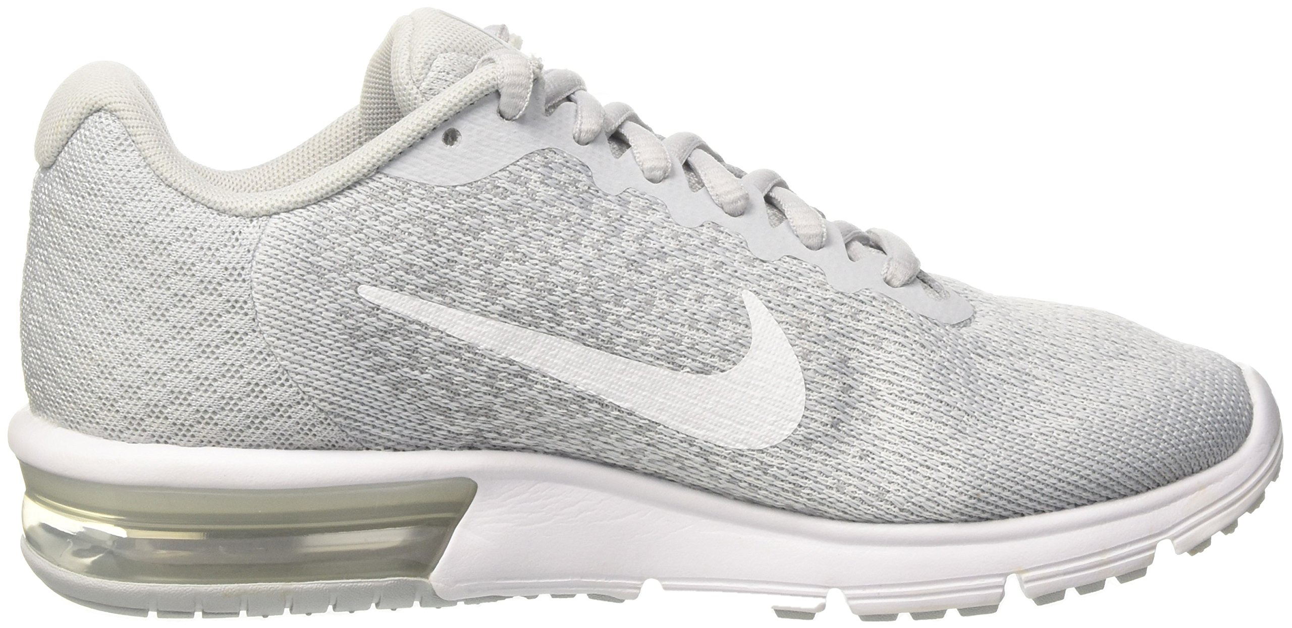 NIKE Womens Air max Sequent 2 Low Top Lace Up Running Sneaker, Silver, Size 10.0 by NIKE (Image #5)