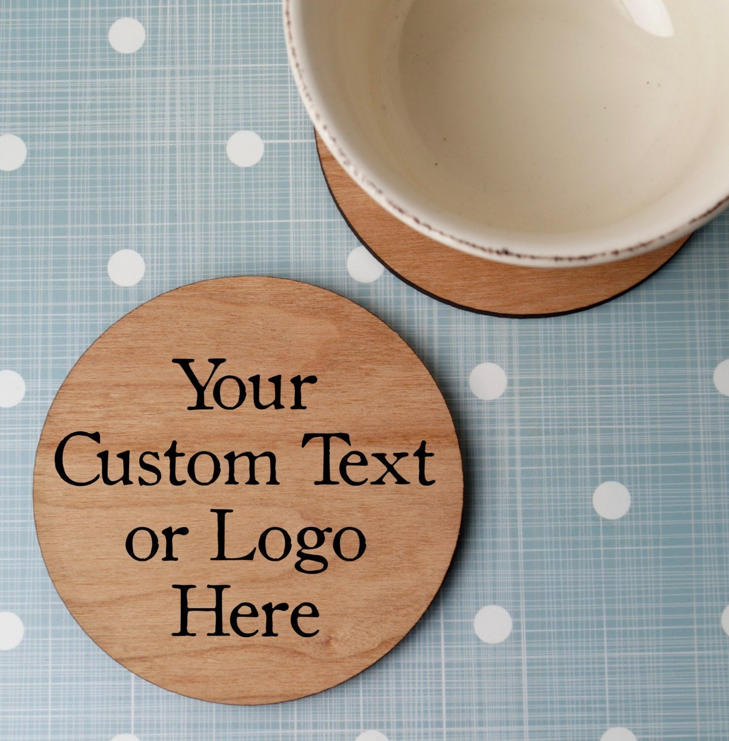 Custom wooden coasters, personalized wood coasters, laser engraved round wooden drink coasters, Christmas, wedding or anniversary gift Set of 4 pc