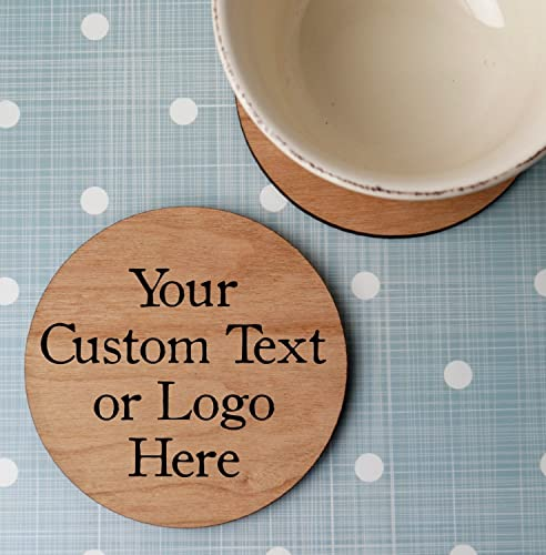 amazon com custom wooden coasters personalized wood coasters