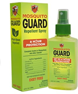 Mosquito Guard Spray repelente de mosquitos (118 ml) 100% ingredientes naturales, Aceite