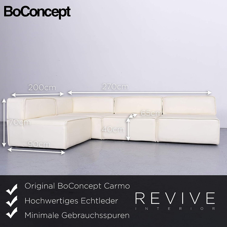 BoConcept Carmo Designer Leder Sofa Weiß Echtleder ...