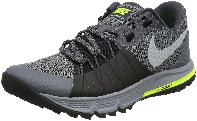 Nike Air Zoom Wildhorse 4, Scarpe da Trail Running Uomo, Grigio (Dark Grey/Wolf Grey/Black/Stealth 001), 45 EU