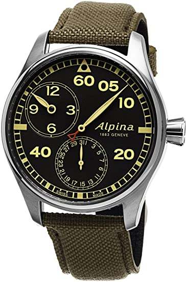 Reloj Alpina Startimer Pilot Manufacture Regulator, AL-950, Gris, Ed. Limitada: Alpina: Amazon.es: Relojes