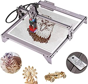 Laser Engraver, NASUM 5.5W A5 Pro Focusing Laser Engraving Cutting Machine,Compressed Spot LD CNC,410x400mm,Fast High Precision Cut Engraver for Metal,Wood,Vinyl,Leather etc. Require US Power Adapters
