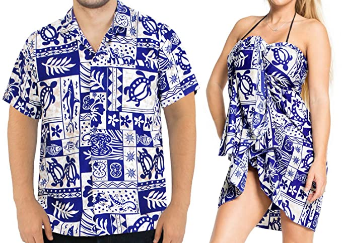93a68976 LA LEELA Aloha Hawaiian Tropical Beach Solid Plain Mens Casual Short  Sleeves Button Down Tropical Shirts
