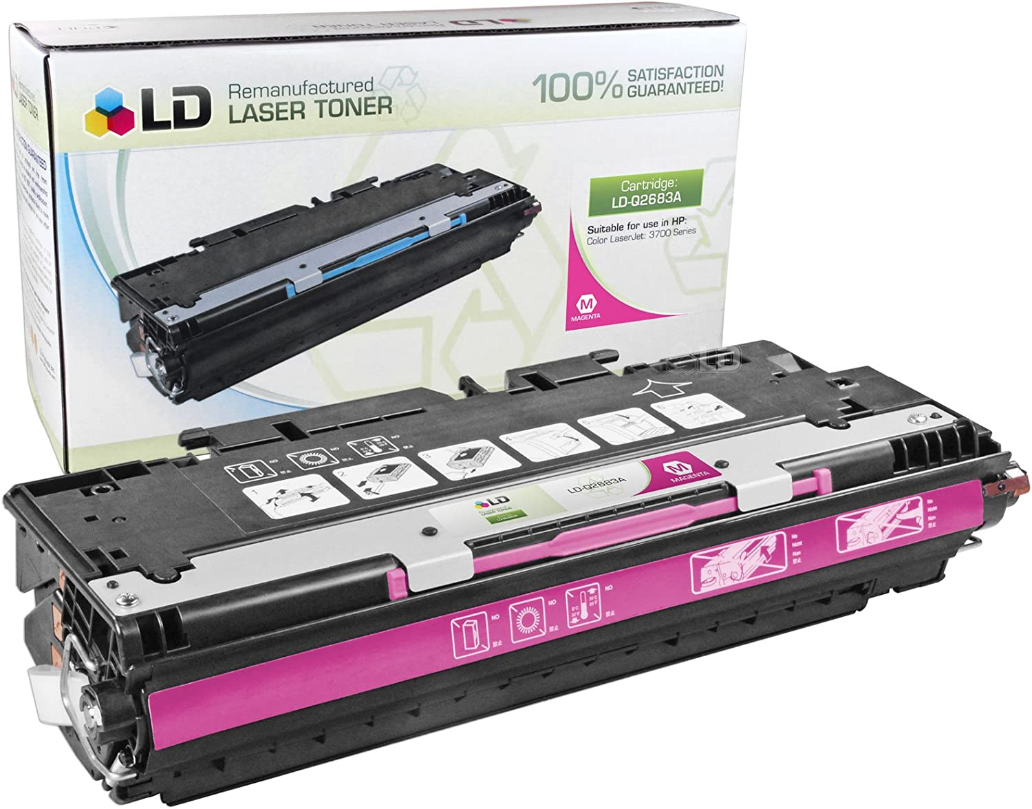 LD Remanufactured Toner Cartridge Replacement for HP 311A Q2683A (Magenta)