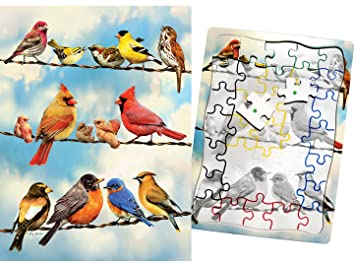 Blue Sky Birds 35 Piece Sequenced Jigsaw Puzzle Engaging Activities