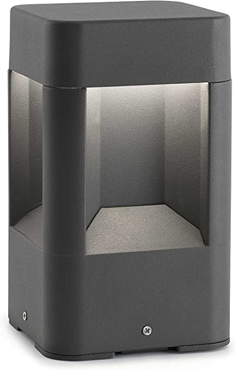 Imagen deFaro Barcelona 71198 - NAYA Sobremuro (bombilla incluida) LED, 6W, cuerpo de aluminio y difusor de pc, color gris           [Clase de eficiencia energética A]