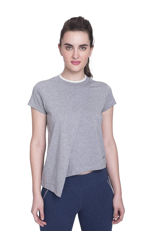Satva Premium Organic Cotton Layered Short Sleeve T-Shirt Round Neck for Yoga Workout Running Sports Training Cycling Discovery Layered Tee