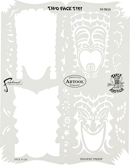 Artool Freehand Airbrush Templates Tikki Master Set