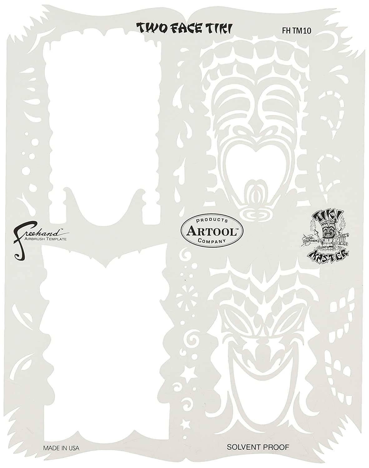Artool Freehand Airbrush Templates Tiki Master Mini Series 2