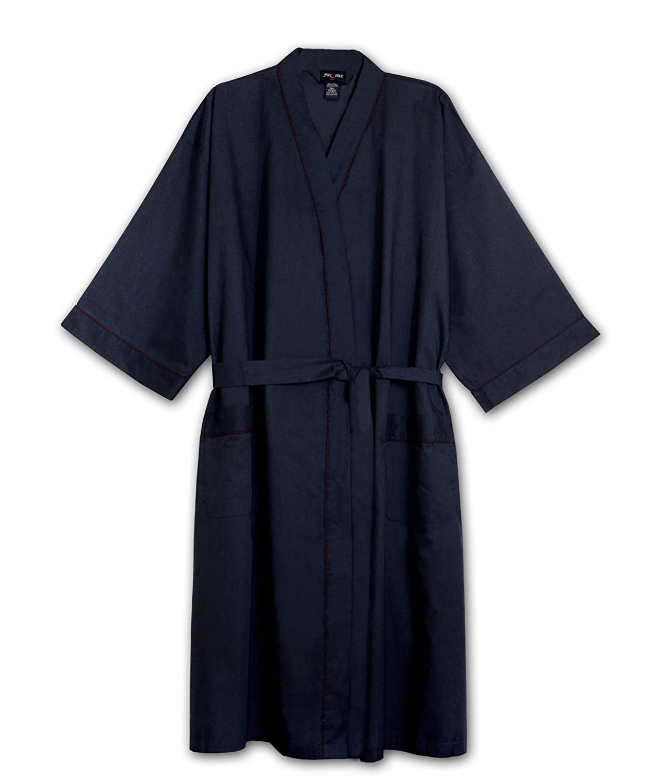 Foxfire Tall Mens Light Weight Broadcloth Kimono Robe