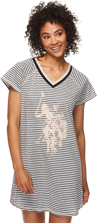 Womens Pajamas Dormshirt Comfortable Scoopneck Tank with Woven Back Sleep Lounge PJ Shirt US Polo Assn